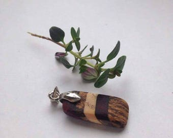 Handmade Natural Wood Pendant