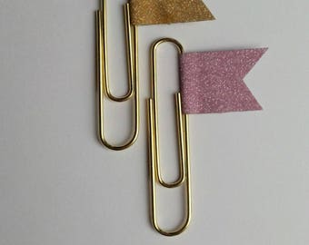 Pack of Limited Edition Glittered Paper Clips