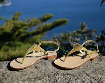 The Olivia Sandal with Tuscan Leather. MADE IN ITALY with 100% Italian Leather. Crafted by the hands of artisans.