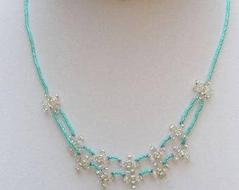 Handmade glass bead necklace