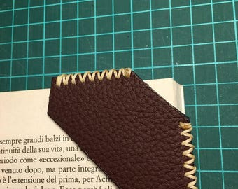 elegant leather book marks