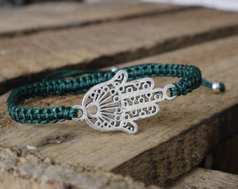 woven bracelet with hand of Fatima