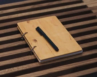Wooden Notebook Wood Notebook Gift