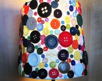 Button Lamp & shade