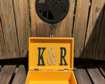 Wedding Card Box Rustic Distressed Personalized