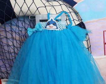 Shark baby Tulle Tutu Girls dress