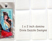 20 domino seals 1x2 inch (25x50mm) DOMINO size clear epoxy stickers, domed cover cabochon for pendant jewelry