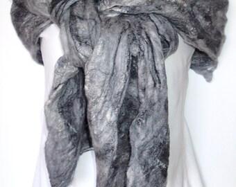 Merino and Silk Cobweb Scarf or Wrap (free US ship)