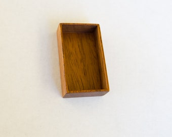 Deep miniature shadow box finished hardwood - Mahogany - 26 x 48 mm cavity - (F61-M)