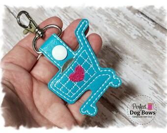 Quarter Keeper Keychain, Quarter Holder Key Fob, Gifts for Her, Shopping Cart Keychain, Quarter Keeper Key Fob