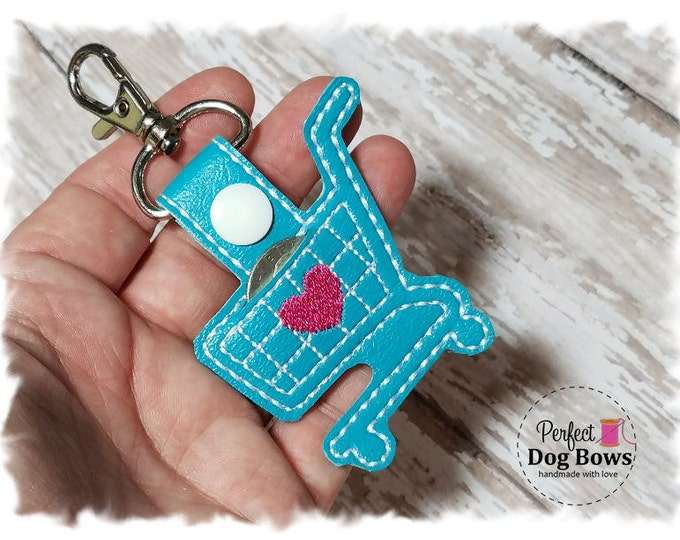 Quarter Keeper Keychain, Quarter Holder Key Fob, Gifts for Her, Shopping Cart Keychain, Quarter Keeper Key Fob