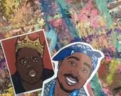 Tupac and Biggie Sticker Pack