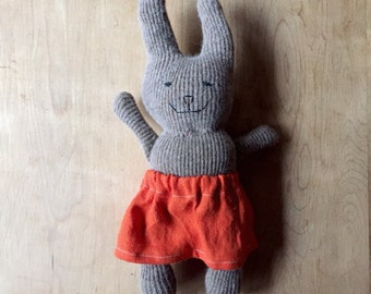 Cashmere Bunny Rabbit Doll - one of a kind stuffed animal