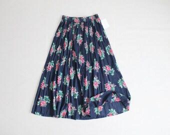 floral gauze skirt | 90 skirt | long floral skirt