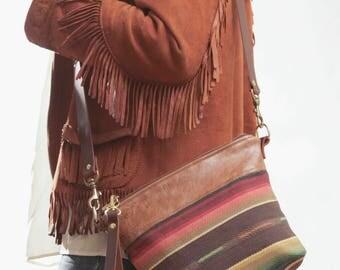 Boho Makeup Bag, Southwestern Bag, Ethnic Crossbody, Teen Crossbody,  Boho Day Bag, Mexican Bag, Teen Makeup Bag,  Boho Organizer
