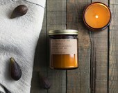 No. 28: BLACK FIG - 7.2 oz soy wax candle - mission fig / spice clove / pine - P.F. Candle Co.