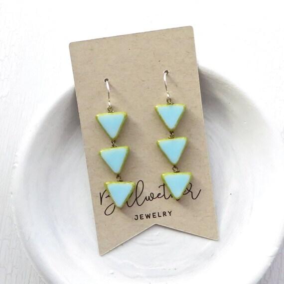 WHOLESALE LISTING // Angle Earrings - Blue // EAB