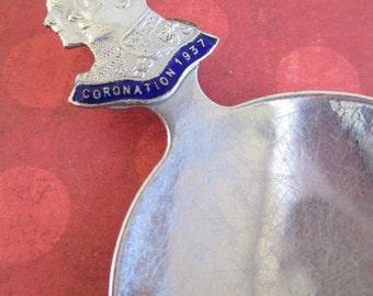 Vintage Coronation King George VI Tea Caddy Spoon 1937