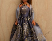 Lilac Holiday gown for Dawn and Pippa dolls by awsumgal