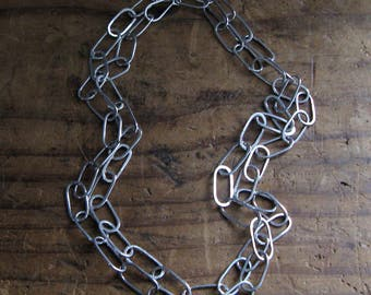 Extra Long Loopy Sterling Silver Necklace Chain