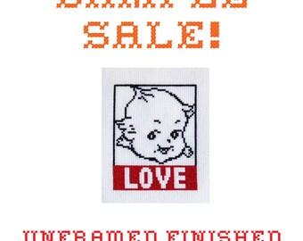 Sample Sale! Kewpie Love - Unframed Cross Stitch