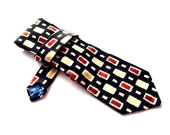 60s Lanvin tie Geometric  necktie cravat