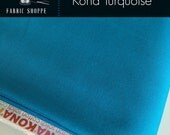 Kona cotton solid quilt fabric, Kona TURQUOISE 1376, Kona fabric, Solid fabric Yardage, Kaufman, Blue fabric, Choose the cut