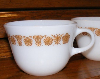Pyrex Corning Butterfly Gold Coffee or Tea Cup