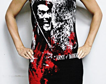 Army of Darkness shirt Evil Dead Ash Horror movie Tank Top halloween alternative clothing reconstructed