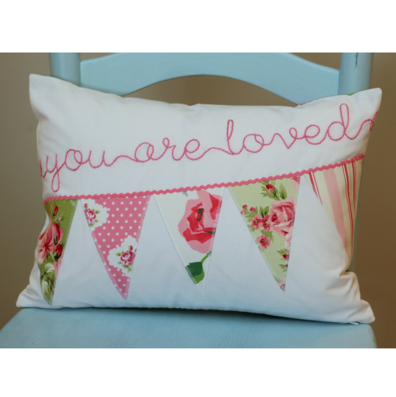 Shabby Chic Pillow Personalized Pillow Cover by tadacreations