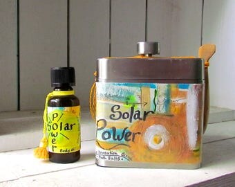 40% Off Sale, Solar Power moisturizing oil blend and bath salts, all citrus