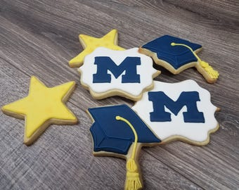 Graduation Sugar Cookies- 1 Dozen