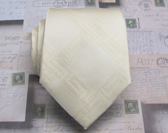 Mens Tie. Champagne Mens Necktie with Matching Pocket Square Option