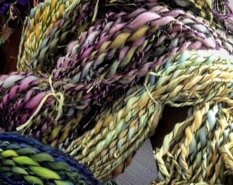 Spring Fling - 3 ply handspun art yarn 5.2 oz 115 yards - one of a kind