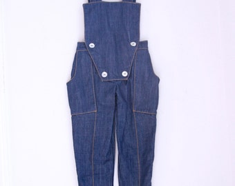 Vintage girls overalls eighties style denim 4t 5t