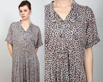 SALE - 1940s Dress with Faux Diamonds