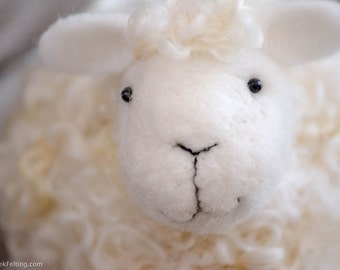 Needle Felted Sheep   Solid Wool