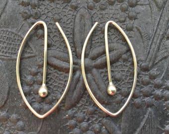 Oval Silver Hoops * Argentium Sterling Hoop Earrings * MetalRocks Original * Made in Canada * Fun Everyday Modern Unique Sleeper Hoops