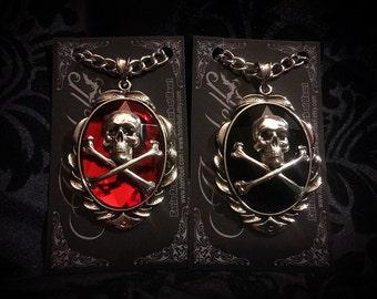 Custom Skull & Crossbones Necklace // Skull Necklace // Skull Jewelry // Gothic Jewelry // Punk Necklace // Punk Jewelry // Custom Jewelry