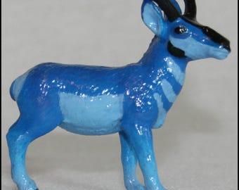 Fantasy Blue Pronghorn Buck (Custom Painted Safari Ltd North American Wildlife OOAK)