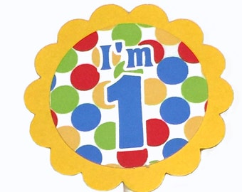 I'm 1 Cupcake Toppers, First Birthday - Set of 12