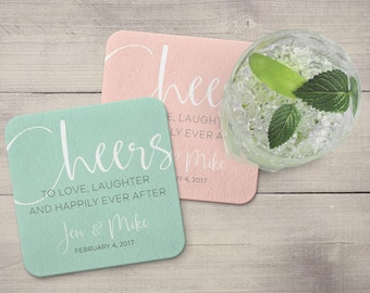 Wedding Coasters | Custom | Cheers | Bridal | Engagement | Love