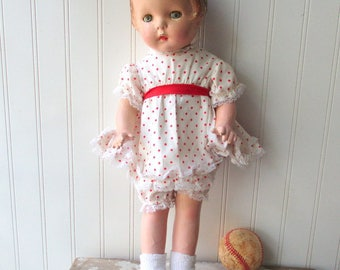 Vintage composition cloth doll American Character Sally mama doll  Shabby as is paint project doll Patsy style