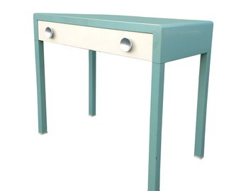 Free Shipping 1930s-40s Simmons Green/Blue Metal Desk by Norman Bel Geddes