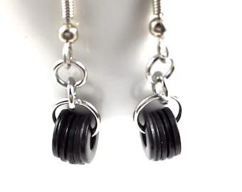 Drop Earrings Dangles Black Metal Hardware Jewelry Eco Friendly