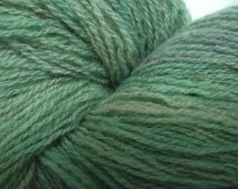 Hand dyed lambswool yarn lace weight yarn soft grey-green yarn shawl yarn - 450 yards -  Lichen