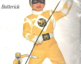 Butterick 3676 Boys Girls Teen Trini Yellow Ranger POWER RANGER Costume Pattern Childs Superhero Sewing Pattern xs s m l Chest 23 - 32 UNCUT