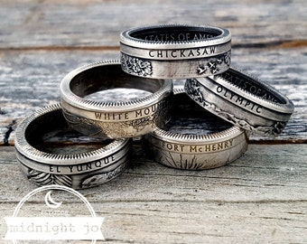 90% Silver Coin Ring National Park Quarters