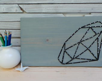 Faceted Diamond Crystal String Art Tablet