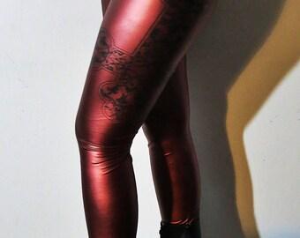 Hell Couture Kruzifixx Wine Leggings